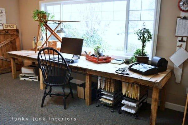 Pallet Farm Table Desk Part 3