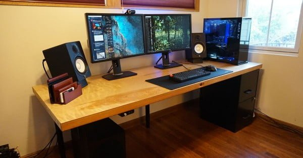 Save hundreds of dollars on a custom computer desk—by building it yourself