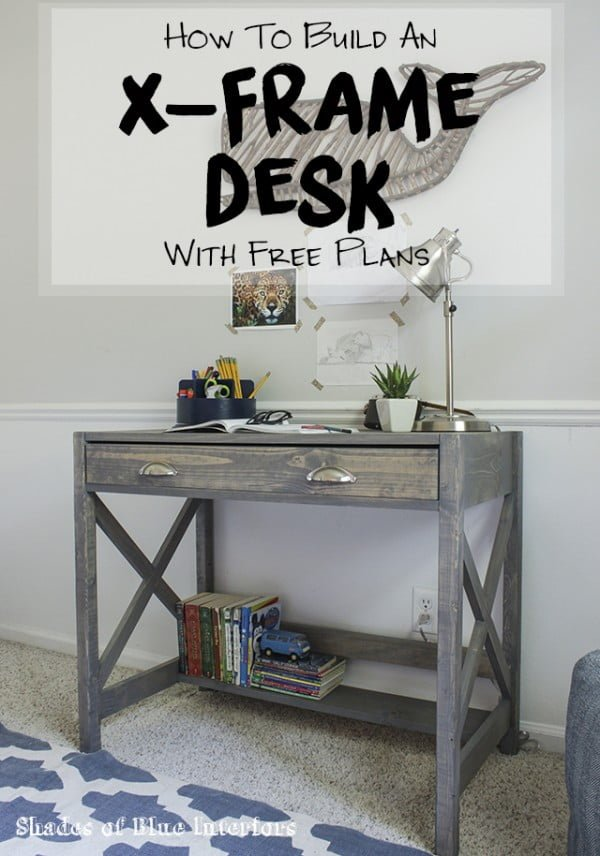 X-Frame Desk with Free Plans