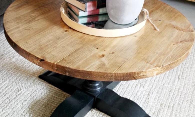 diy pedestal cofffee table