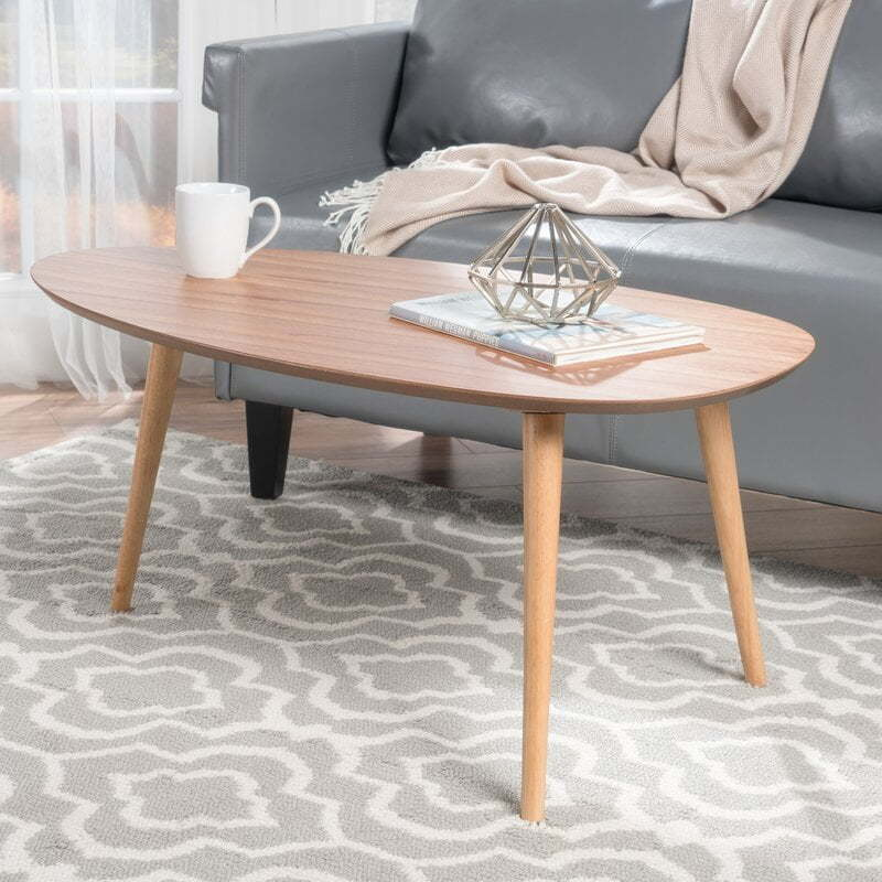 oval mid-century coffee-table