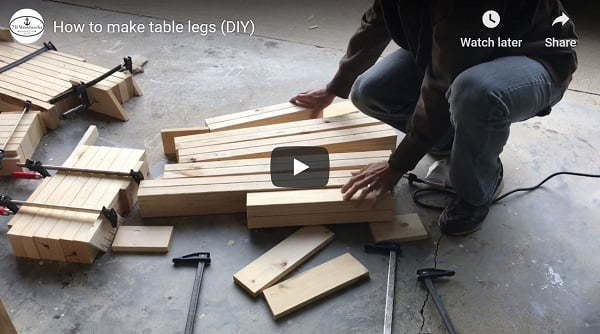 DIY table legs video