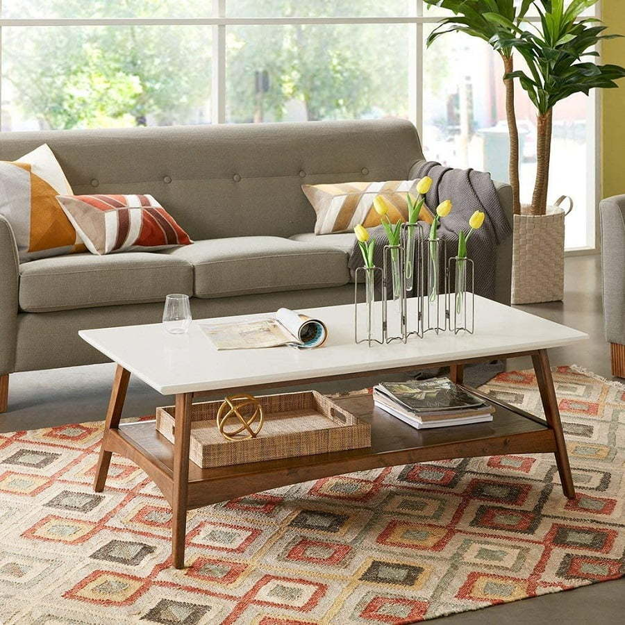 two-tone mid century coffee table