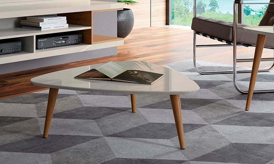 white mid-century modern coffee table