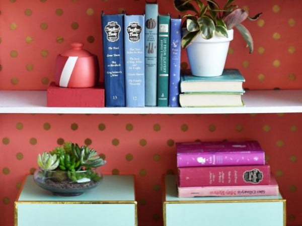 Brighten Your Shelf With Two-Toned DIY Bookends