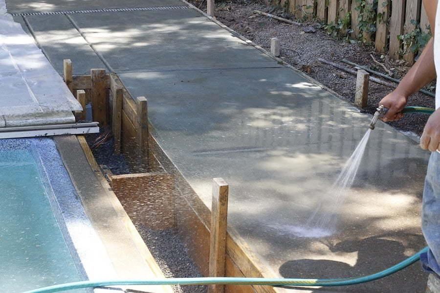 concrete driveway construction