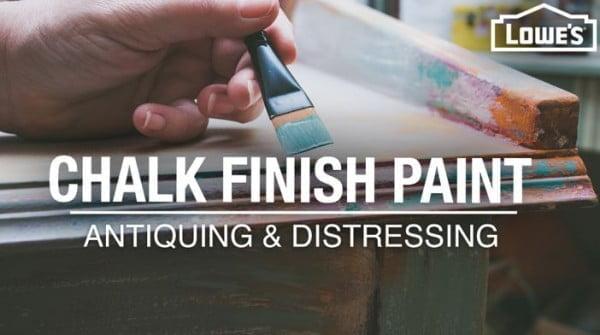DIY Chalk-Finish Paint