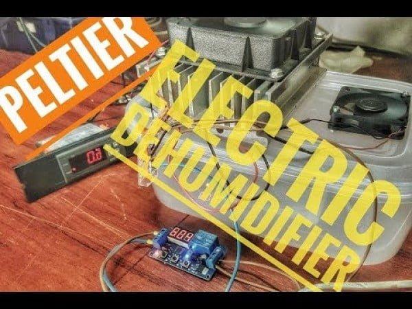 DIY electric air dehumidifier