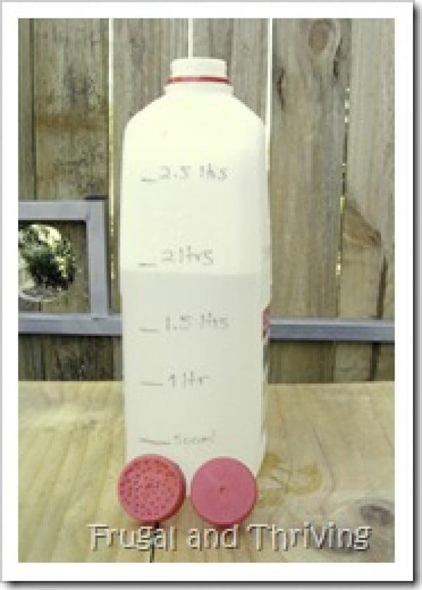 homemade watering can for fertiliser