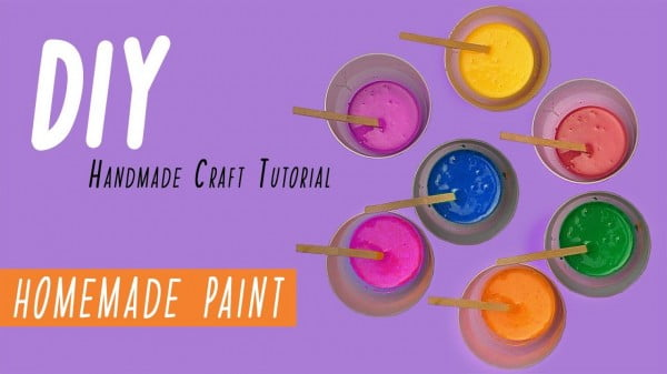 How to make paint at home