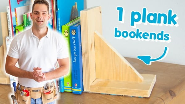 INSANELY Simple Wooden DIY Bookends