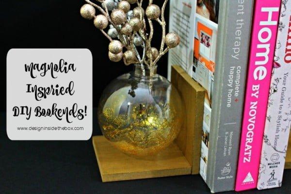 Magnolia Inspired DIY Bookends! · design inside the box