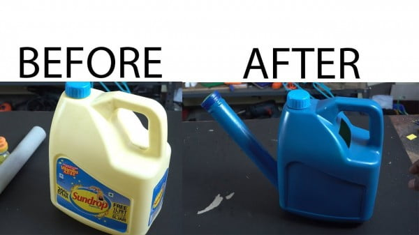 Make diy Watering can from oil can