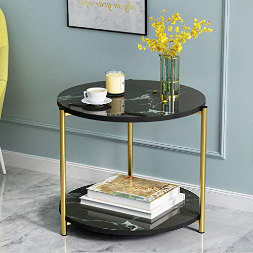 Black Round Marble Coffee Table