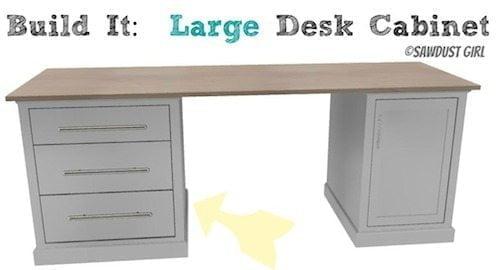 large desk cabinet