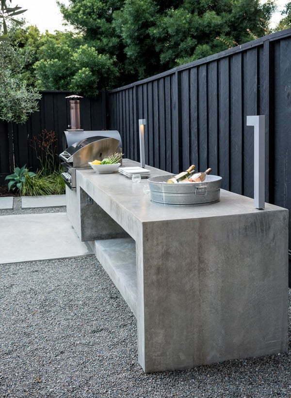 concrete grill station