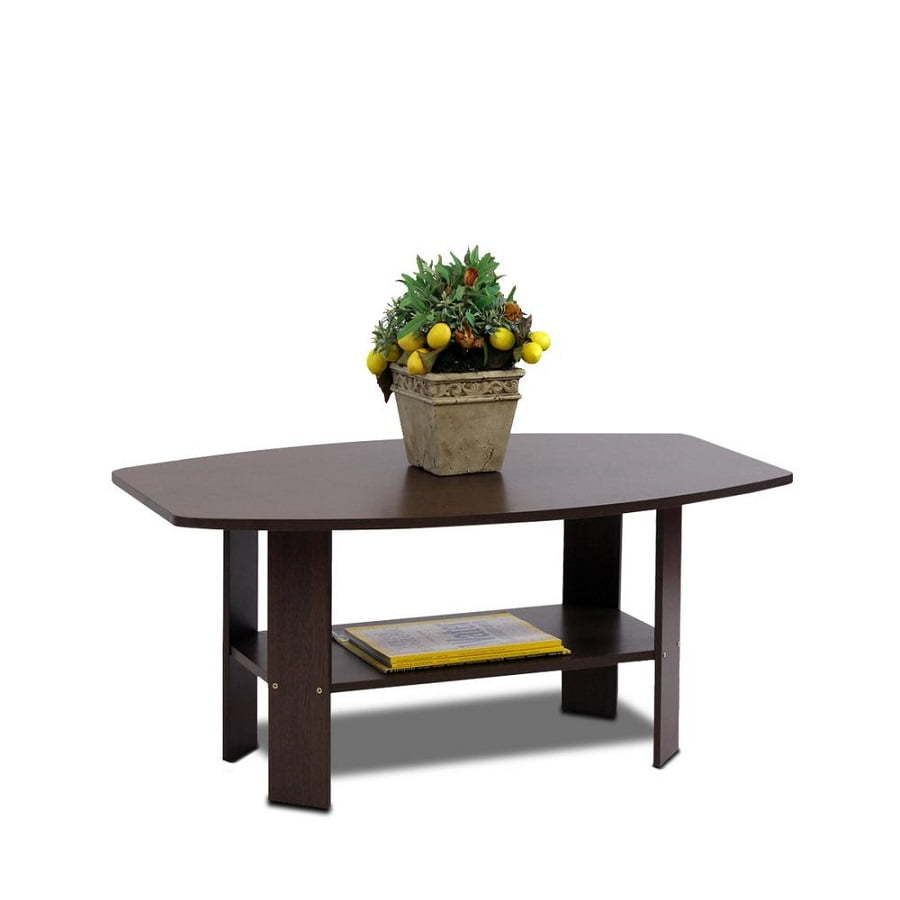 dark brown furinno coffee table