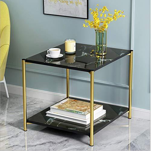 Rectangular Black Marble Coffee Table