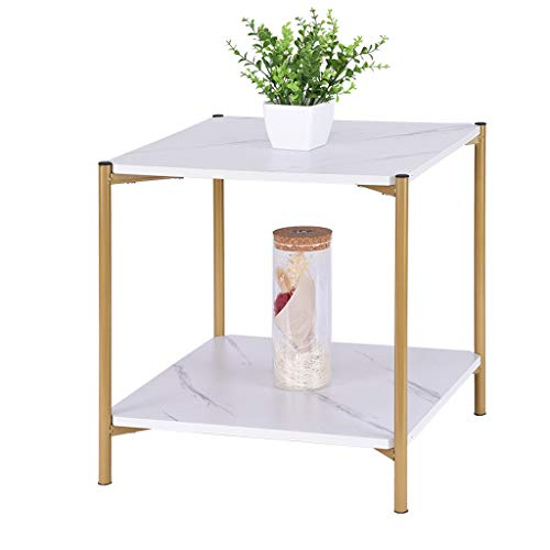 White Marble Square Coffee Table