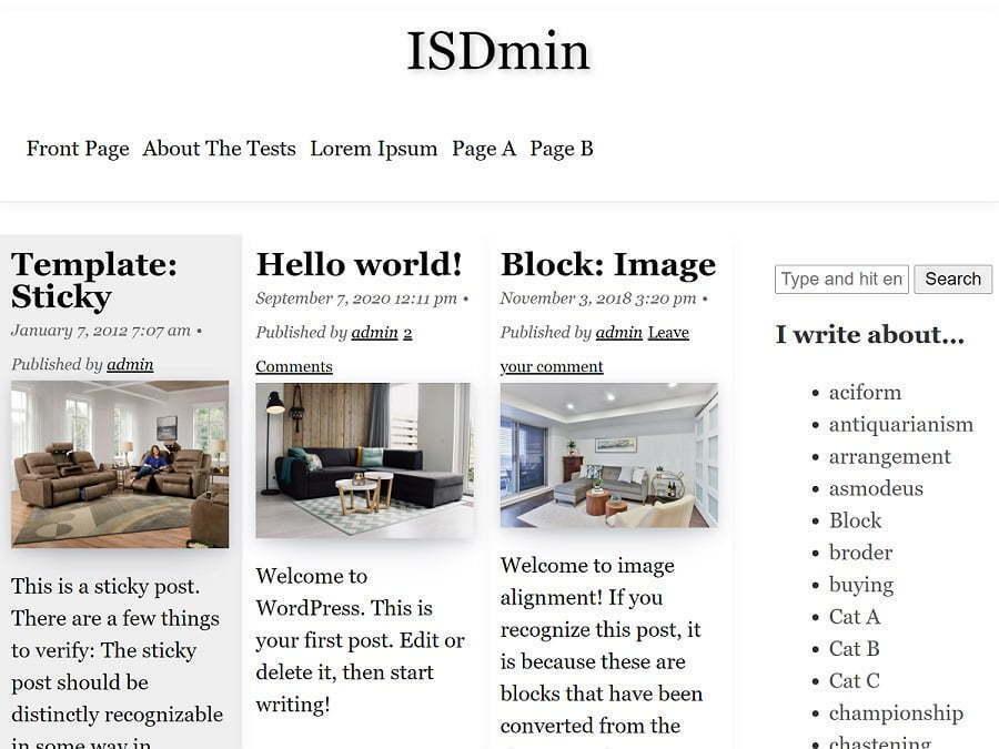 isdmin theme