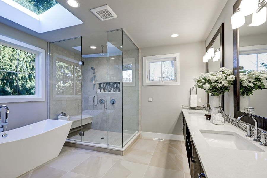 neutral bathroom scheme