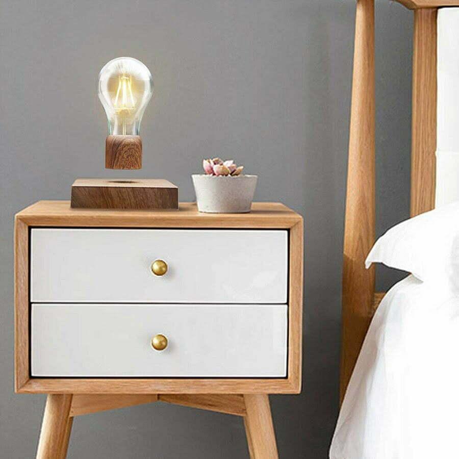 floating light bulb bedroom