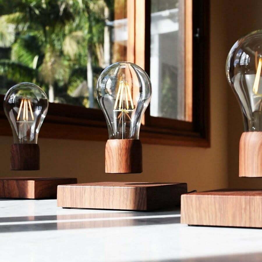floating light bulb table