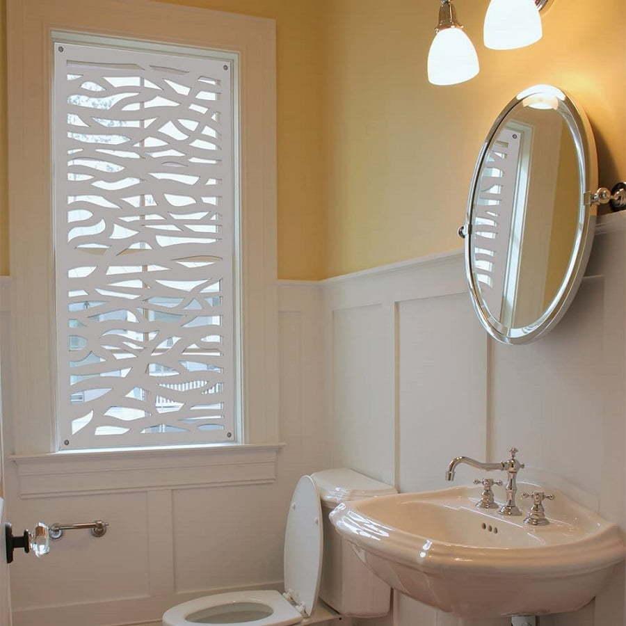 laser cut wood window panels