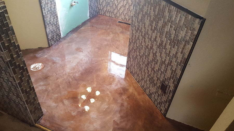 epoxy shower floor