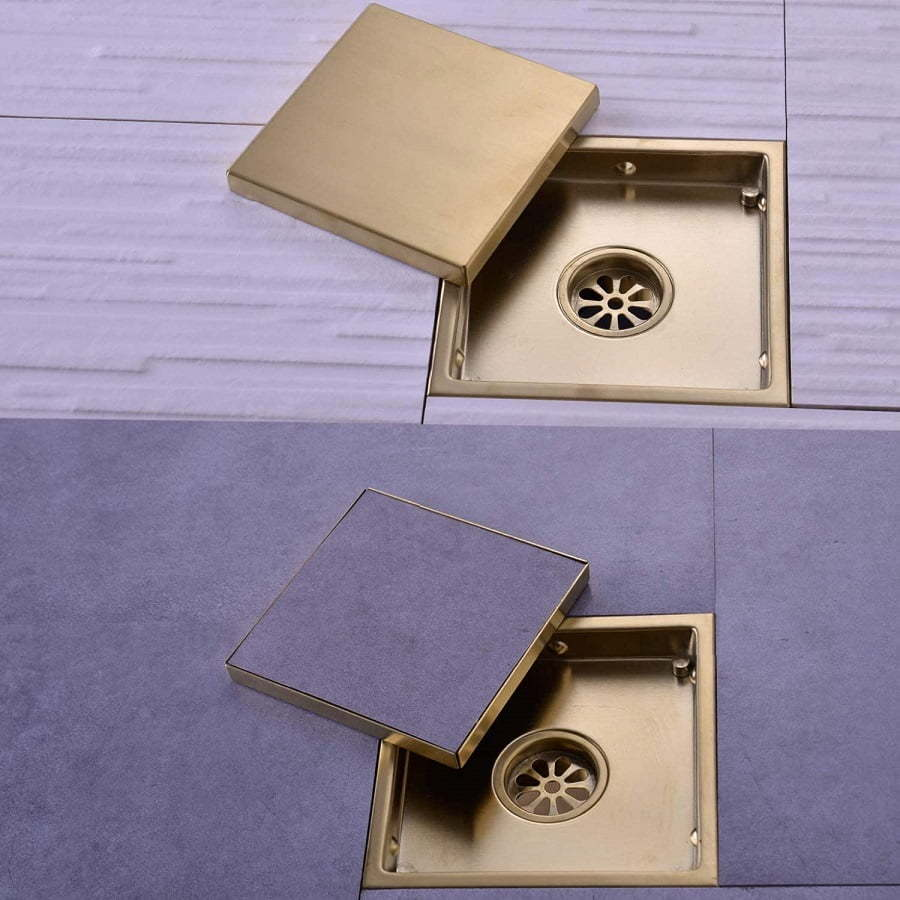hidden shower drain