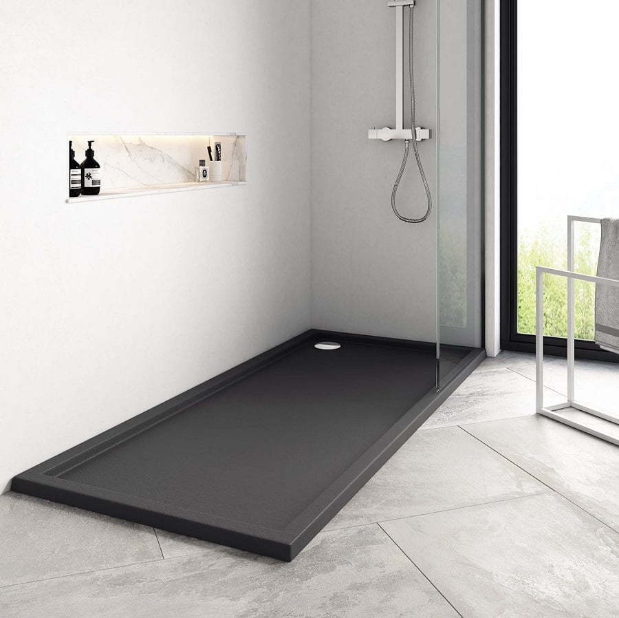 molded stone shower pan