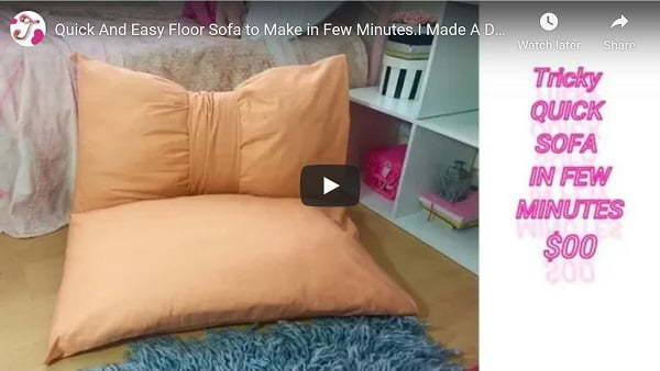 sew floor sofa video