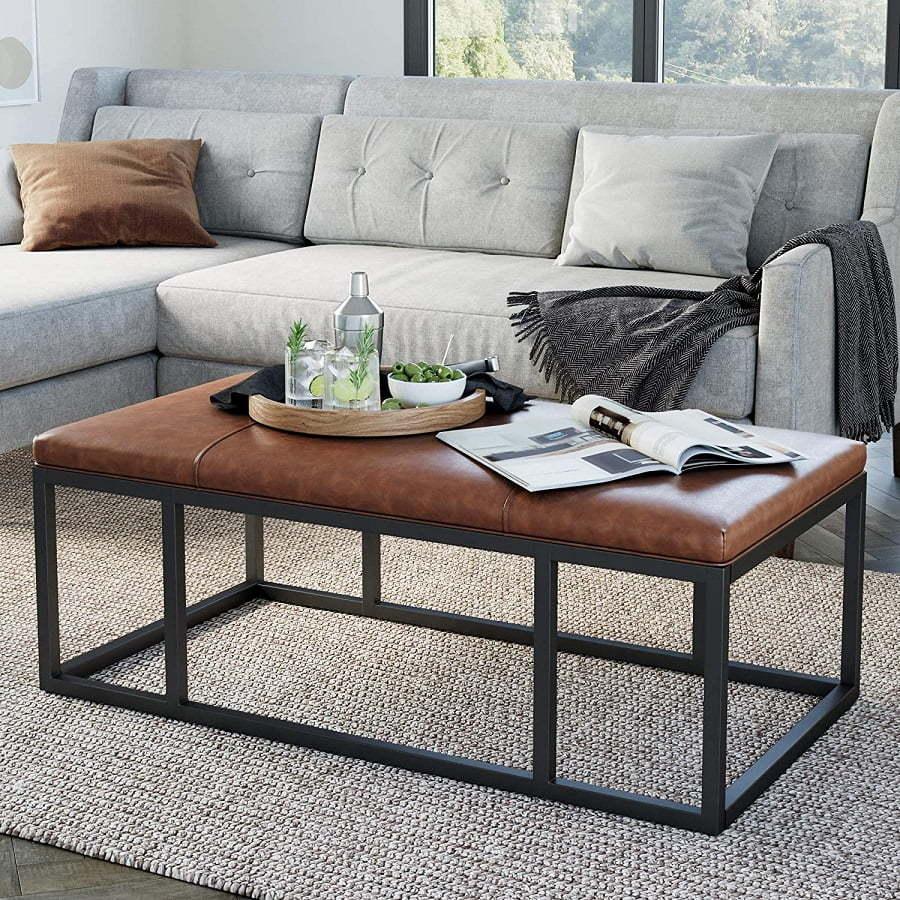 iron frame coffee table ottoman