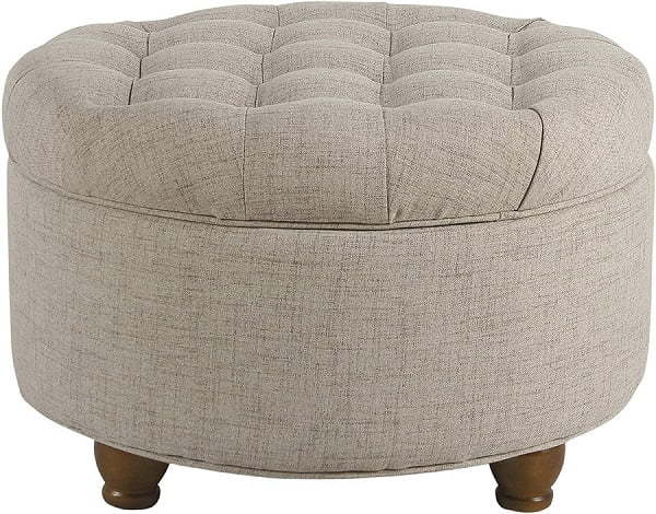 large button tufted ottoman