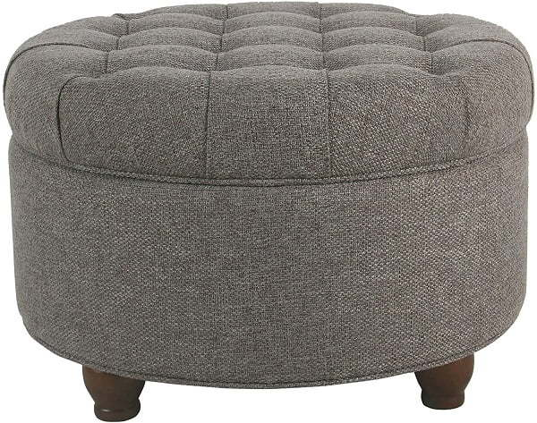 round button turfted ottoman