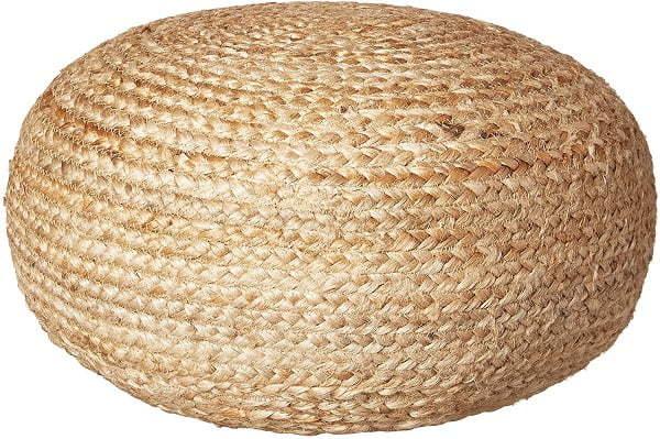 round jute pouf