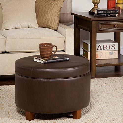 round tray top ottoman