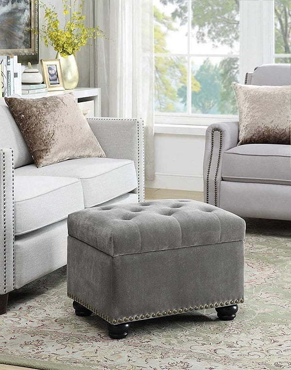 small tufted ottoman