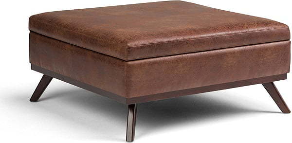 wide square coffee table lift-top ottoman