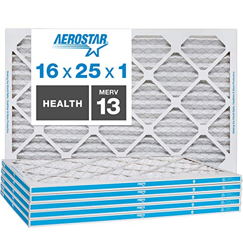 Aerostar Home Max 16x25x1 MERV 13 Pleated Air Filter
