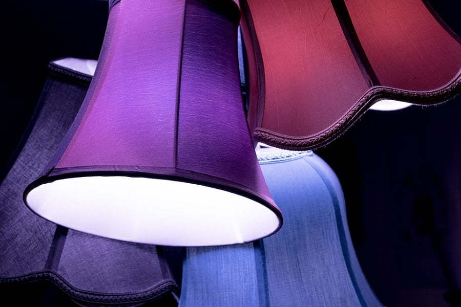 colorful lampshades