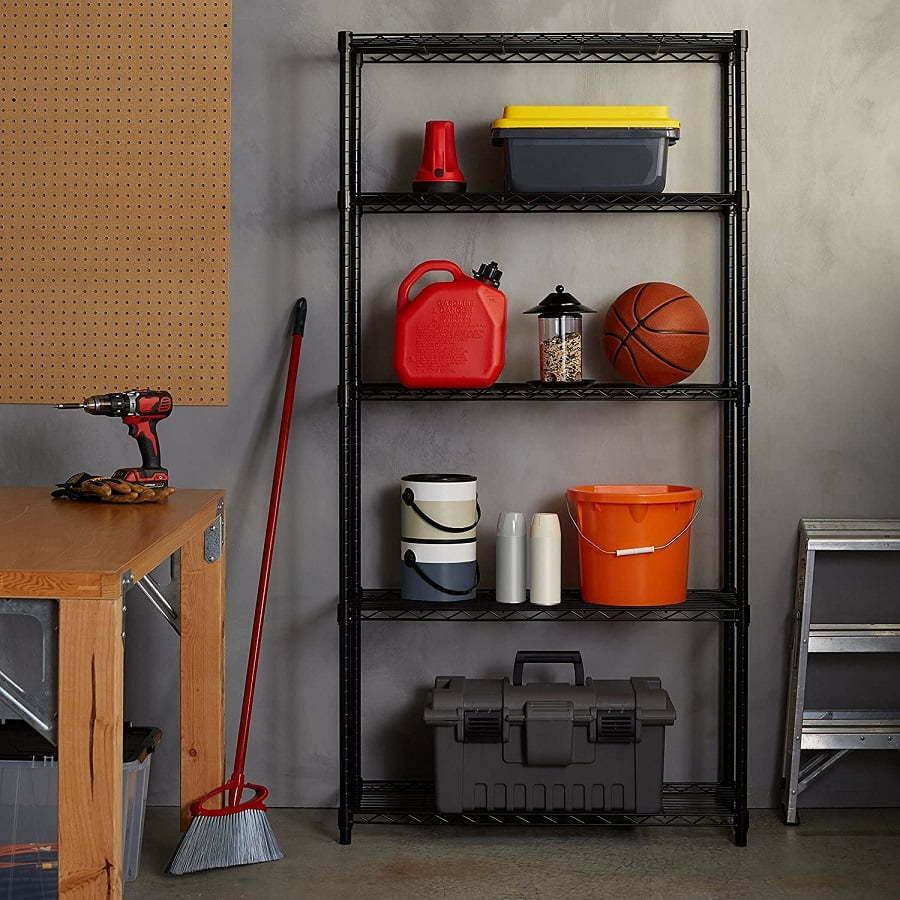 heavy-duty metal shelves
