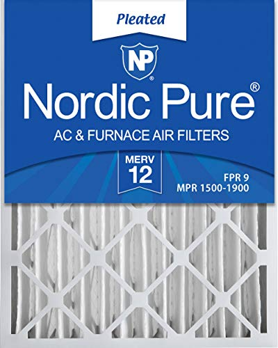 Nordic Pure ERV 12 Pleated AC Furnace Air Filter