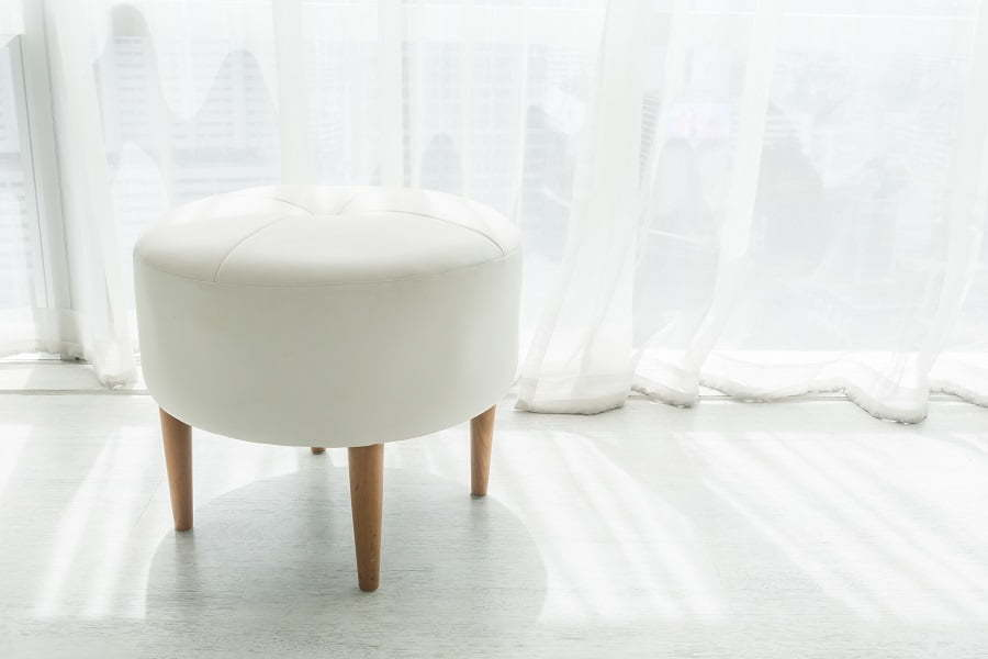 ottoman for sitting