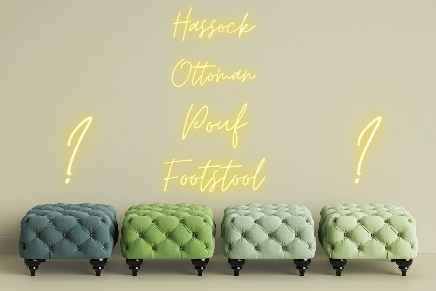 ottoman vs hassock vs pouf vs footstool