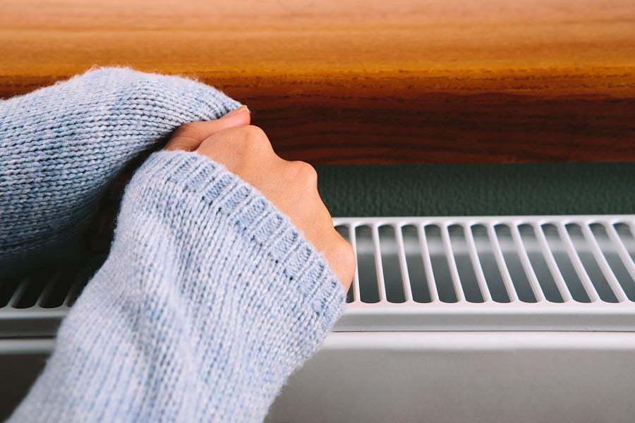 shelf above radiator
