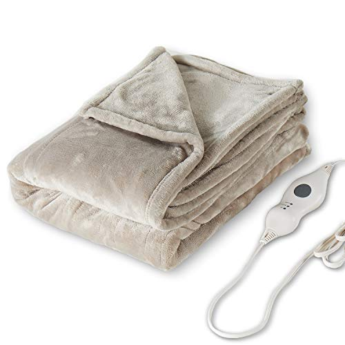 Tefici Electric Heated Blanket Throw with 3 Heating Levels
