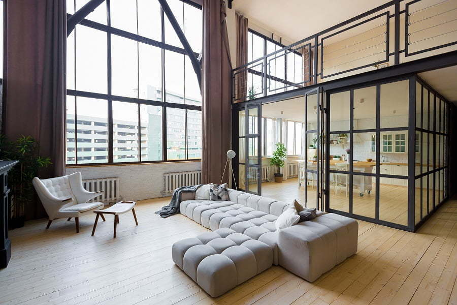 modern large windows