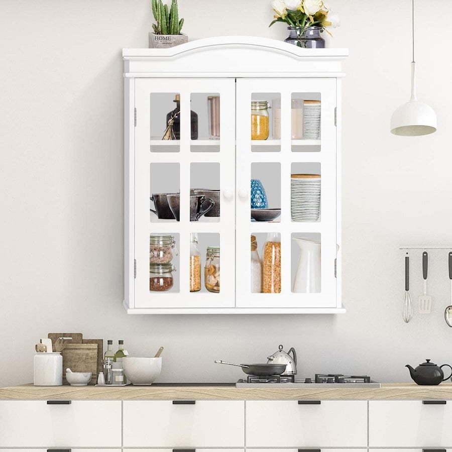 glass-door kitchen cabinet