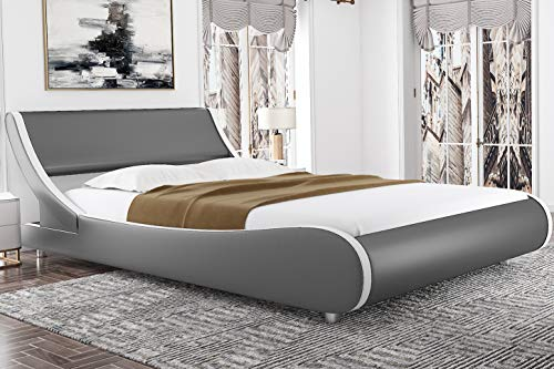 Amolife Modern Full Platform Bed Frame With
